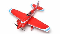 "AeroSky RC RC 5 Channel Midget Mustang 55"" Scale Remote Control Plane Kit (Red) RC Remote Control Radio"