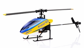 New 6 channel 2.4 GHz Exceed RC XH100 Micro 3D RC Helicopter RTF w/ 6CH 2.4Ghz DEVO-7 Transmitter + Gyro + Servos (Blue) RC Remote Control Radio