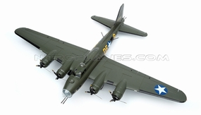 "NEW 7 Channel AirWingRC B-17 Bomber 63"" Scale Electric RC Warbird ARF w/ Brushless Motor + ESC + Servos (Green) RC Remote Control Radio"