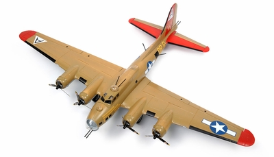 "NEW 7 Channel AirWingRC B-17 Bomber 63"" Scale Electric RC Warbird Kit (Yellow) RC Remote Control Radio"