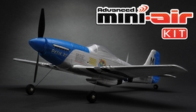New Advanced Mini-Air 4 Channel Scale P51 Mustang RC Warbird Kit Version RC Remote Control Radio 11A051-P51-KIT