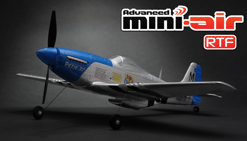 New Advanced Mini-Air 4 Channel Scale P51 Mustang RC Warbird RTF +