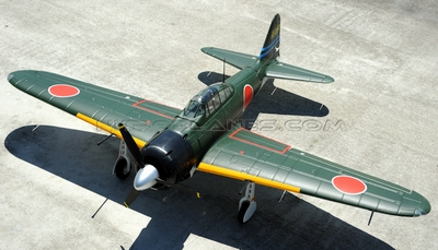 New AirField 1400mm Mitsubishi A6M Zero Warbird  RC Kit Airplane w/ Electronic Retracts 93A1400-1400-Zero-KIT