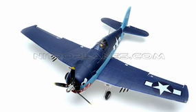 New Airfield 6CH 2.4Ghz F6F Hellcat 1400mm Brushless Warbird RC Plane w/ Brushless Motor/ ESC/ Lipo Battery/ Electric Retracts + Flap RTF Ready to Fly! RC Remote Control Radio 93A1406-1400-F6F-BLUE-RTF-24G
