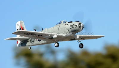 New AirField Mini EPO A1 Skyraider Kit version 800mm Series RC Plane RC Remote Control Radio