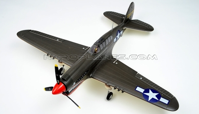 New AirField RC P40 1400mm Warbird 2.4Ghz 6 Channel Brushless Airplane RTF *Super Scale* EPO Foam Plane + Electric Retract + Flaps(Green) RC Remote Control Radio