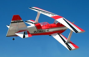 "New ARF! Red Ultimate BiPe 40 - 41.5"" Nitro Gas  Control RC Airplane RC Remote Control Radio"