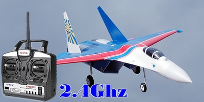 new Art-Tech 2.4Ghz Russian Knight Su-27 Flanker Twin 64mm Electric Brushless Jet RC Remote Control Radio