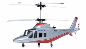 New Art Tech 4 Channel 400 Class Agusta Double Rotor Heli RTF RC Remote Control Radio