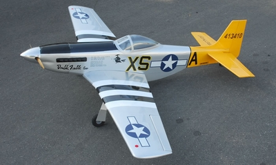 "New Double Trouble Two P-51D Mustang 60 - 65.5"" Nitro Fuel Powered  led RC Warbird Airplane ARF RC Remote Control Radio"