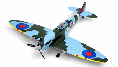New Dynam Extreme Detail Brushless 4CH  Spitfire 900mm v2 ARF (Camo) RC Remote Control Radio