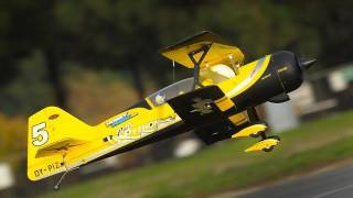 "New Dynam Peaks 42"" RC 4 Channel 3D Bi-Plane ARF w/ Brushless Motor + ESC + Servos (Yellow) RC Remote Control Radio"