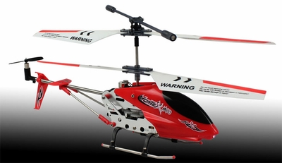 New Dynam Vortex M100 Infrared RC Micro Helicopter 3.5 Channel RTF + Transmitter with Gyro (Red) RC Remote Control Radio