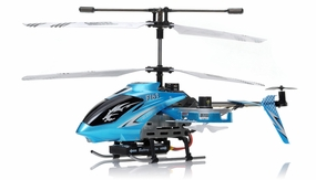 New F163 Fire Wolf 4.5CH RC Dual side-fly Helicopter RTF w/ 27MHz Transmitter + Built in Gyro (Blue) RC Remote Control Radio
