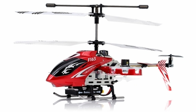 New  F163 Fire Wolf 4.5CH RC Dual side-fly Helicopter RTF w/ 27MHz Transmitter + Built in Gyro (Red) RC Remote Control Radio
