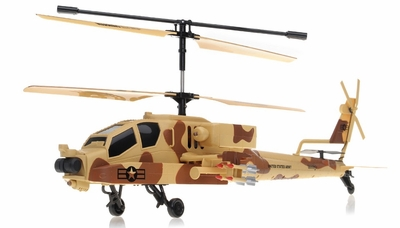 NEW GunShip Focus 3396 Co-Axial 3.5 Channel RC Helicopter RTF + Built in Gyro (Camo) RC Remote Control Radio
