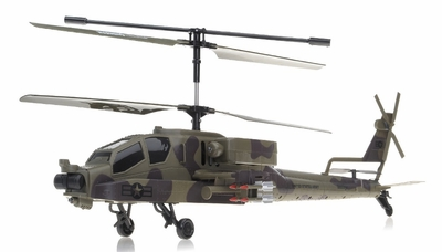 NEW GunShip Focus 3396 Co-Axial 3.5 Channel RC Helicopter RTF + Built in Gyro (Green) RC Remote Control Radio