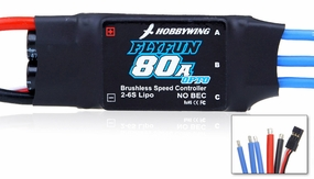 New HobbyWing Flyfun ESC 80A OPTO  for Airplane & Helicopter
