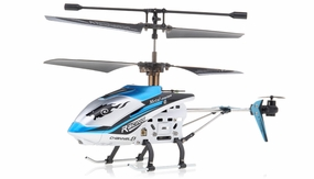 New JXD 340 Drift King Infrared RC Helicopter 4 Channel RTF + Transmitter with Gyro (Blue) RC Remote Control Radio