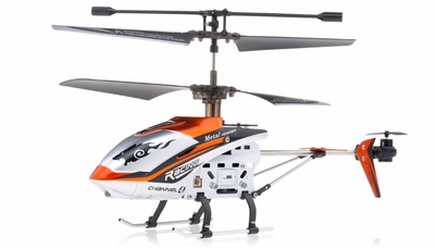 New JXD 340 Drift King Infrared RC Helicopter 4 Channel RTF + Transmitter with Gyro (Orange) RC Remote Control Radio