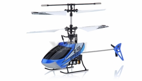 New Mingji F-Series 501 RC Helicopter 4 Channel 2.4Ghz RTF + Transmitter (Blue) RC Remote Control Radio