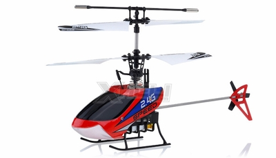 New Mingji F-Series 501 RC Helicopter 4 Channel 2.4Ghz RTF + Transmitter (Red) RC Remote Control Radio