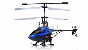New Mingji F-Series 503 RC Helicopter 4 Channel 2.4Ghz RTF + Transmitter (Blue) RC Remote Control Radio