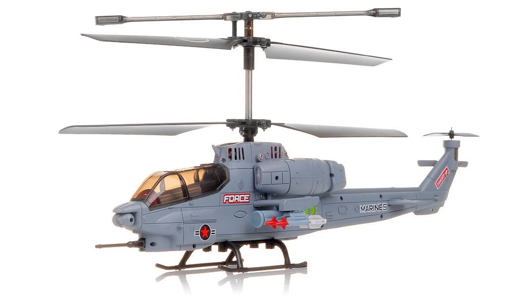 New SYMA S036G Gunship 3 Channel RC Helicopter (Grey) RC