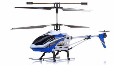 "New Syma S301G RC helicopter 18"" 3 Channel RTF + 27 mhz Transmitter with GYRO (Blue) RC Remote Control Radio"