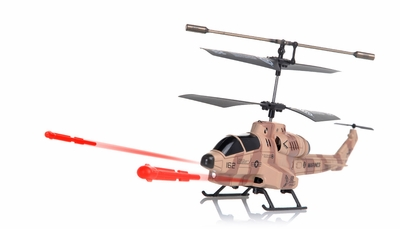 New UDI U809 Cobra Missile Launching 3CH Micro RC Helicopter w/ Gyro RTF (Camouflage Desert) RC Remote Control Radio