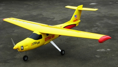 "New Version 2 Extra 500 .60 Engine 60"" Nitro Powered Radio Controlled Airplane Kit (Yellow) RC Remote Control Radio"