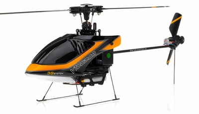 New Walkera V100D08 3D Flybarless RC Helicopter w/ 6 Channel 2.4GHz Devo-7 LCD Transmitter RTF Combo (Orange) RC Remote Control Radio