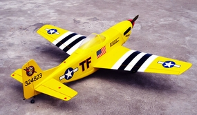 "New Yellow P-51D Mustang 52 - 58"" Nitro Gas Radio Remote Control ARF Warbird Plane w/ Retractable Landing Gear V2 RC Remote Control Radio"