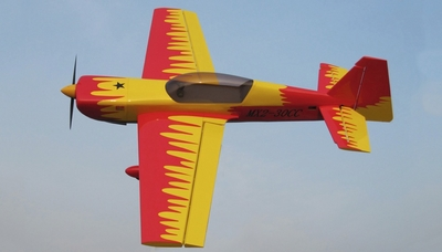 Nitro Model 4 Channel MX2 3D Aerobatic 30CC Gas Plane Kit 1860mm Wingspan (Red) RC Remote Control Radio
