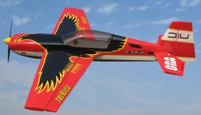 Nitro Model Thunderbird 4 Channel Aerobatic 3D 30CC Gas Plane Kit 1860mm Wingspan (Black) RC Remote Control Radio