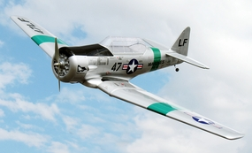 "Nitro Models AT-6 Texan 160 - 82""- A Marines VMT-1 Nitro Gas  led RC Aircraft Almost-Ready-to-Fly RC Remote Control Radio"