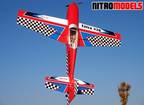 "NitroModels 3D Extra 330L 90 - 63"" Acrobatic Nitro Gas  led RC Airplane ARF RC Remote Control Radio"