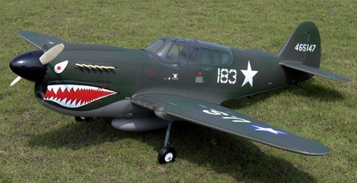 NitroModels P-40E Warhawk 40 ARF Authentic full-scale Flying Tiger ARF P40_size40