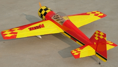 "NitroModels Yak-55M 50CC - 81"" Gas Engine Remote Control RC Plane Kit RC Remote Control Radio"