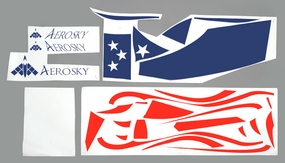 One set of Stickers (Blue) 05A330-29-DecalStickers-Blue
