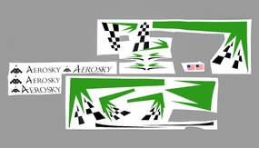 One set of Stickers (Green) 05A330-29-DecalStickers-Green