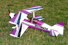 Purple Brushless Electric Ultimate BiPe ARF Radio Remote Control RC BiPlane Airplane ARF_ElectricUltimatePurple