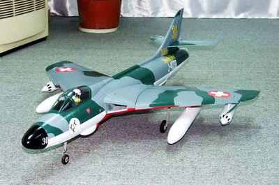 RC Lander Hawker Hunter 70mm EDF RC Jet w/ Retractable Landing Gear