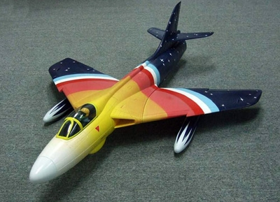 RCLander Hawker Hunter 70mm RC Electric Ducted Fan EDF Jet *Retract-Ready* ARF Electric Ducted Fan Jet