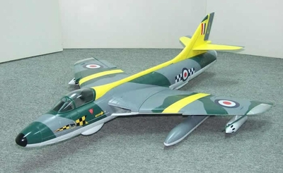 RCLander Hawker Hunter 70mm RC Electric Ducted Fan EDF Jet (Yellow)*Retract-Ready* ARF Electric Ducted Fan Jet