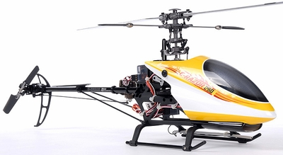 Receiver-Ready Dynam E-Razor 250 Pro RC Helicopter w/ CNC Upgraded Rotor Head, Brushless Motor+ESC, LiPo Battery RC Remote Control Radio