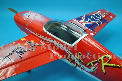 "Red CMP Extra 330L 50 - 56"" Nitro Gas Engine Powered Radio Remote Controlled Aerobatic RC Airplane ARF CMP-Gas-Extra330L-Size50Red"