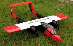 "Red OV-10 Bronco ARF Nitro Gas/Electric 15 - 48"" Twin-Engine Radio Remote Controlled RC Airplane"