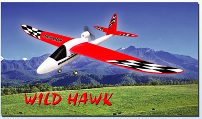 "RTF Wild Hawk 54"" Electric 3-Channel Radio Remote Control RC Airplane Ready to Fly w/ EPP Fuselage and Wings 3391_WildHawkAirplane"