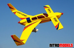 Rutan 74 Deflant Yellow ARF Twin Engine Nitro Gas  led Airplane RC Remote Control Radio